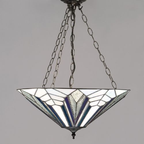 Astoria Large Inverted Pendant (Art Deco, Inverted Pendant) T026IP (Tiffany style)
